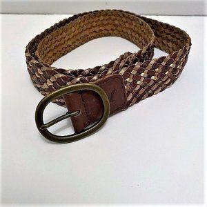 American Eagle | Genuine Leather Weaved Belt Sz L